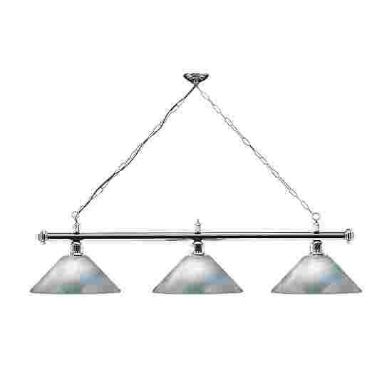 Automaten Hoffmann Billardlampe London 2 Chrom & Trichter, Silber