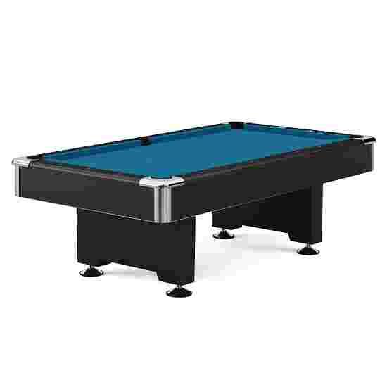"""Automaten Hoffmann Billardtisch """"Club Pro in Schwarz"""" 7 ft (Spielfeld 198x99 cm), Simonis 860 Tournament-Blue"""