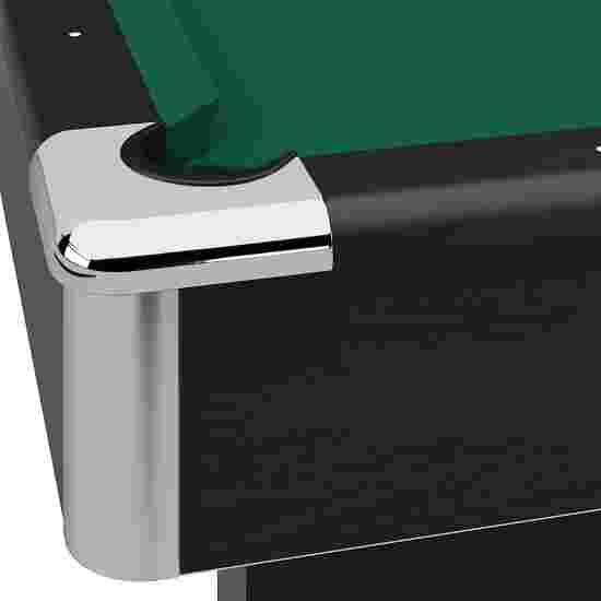 """Automaten Hoffmann Billardtisch """"Club Pro in Schwarz"""" 7 ft (Spielfeld 198x99 cm), Standard Grün"""