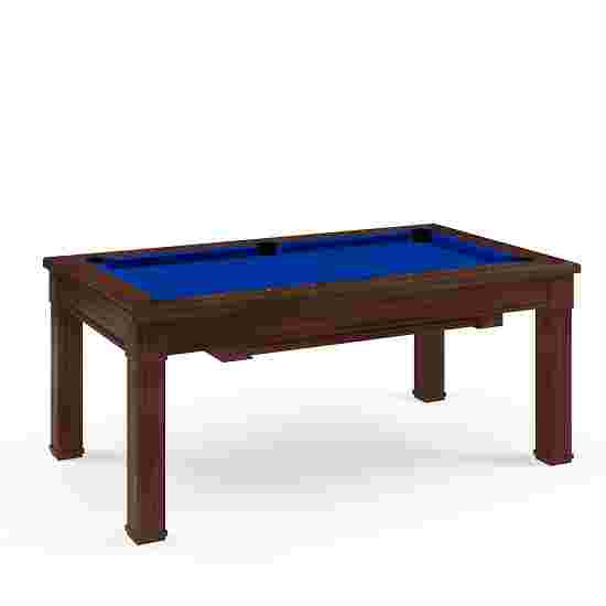 Bison Billard- und Esstisch Dolce Vita in Walnuss 5 ft = 184x106 cm, Blau