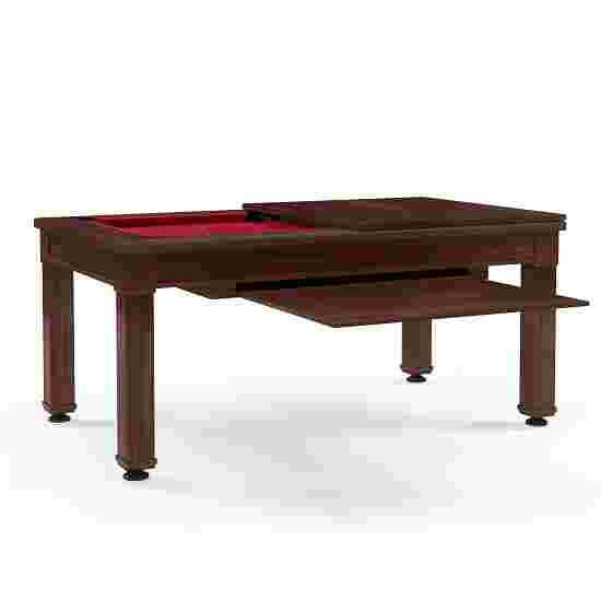 Bison Billard- und Esstisch Dolce Vita in Walnuss 5 ft = 184x106 cm, Rot