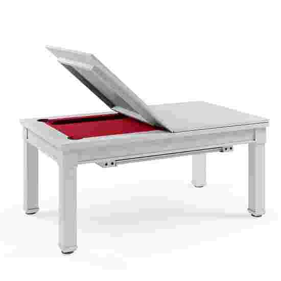 Bison Billard- und Esstisch Dolce Vita in Weiß 5 ft = 184x106 cm, Rot