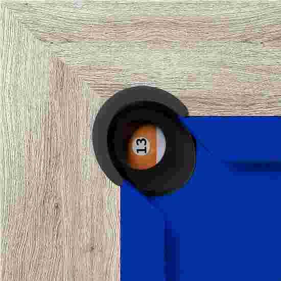 """Bison Billardtisch """"Dolce Vita Eiche natur"""" 5 ft = 184x106 cm, Blau"""