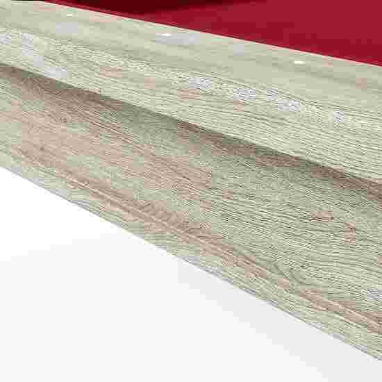 """Bison Billardtisch """"Dolce Vita Eiche natur"""" 5 ft = 184x106 cm, Rot"""