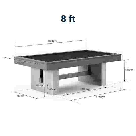 """Bison Billardtisch """"Loft Schiefer"""" 8 ft (Spielfeld 224x112 cm), Simonis 860 Black"""