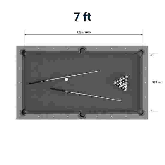 """Bison Billardtisch """"Loft"""" 7 ft = 227x128 cm, Schwarz"""