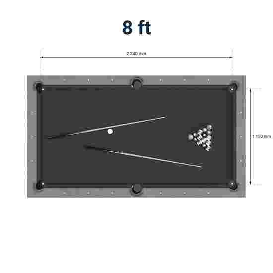 """Bison Billardtisch """"Loft"""" 8 ft = 253x141 cm, Schwarz"""