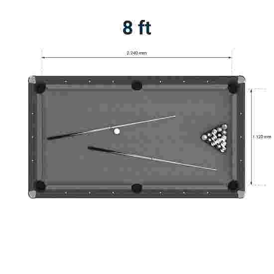 """Bison Billardtisch """"Tirol Erle"""" 8 ft = 249x137 cm, Grün"""