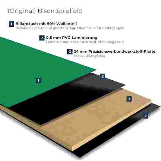 """Bison Billardtisch """"Tirol Nussbaum"""" 7 ft = 222x126 cm, Grün"""