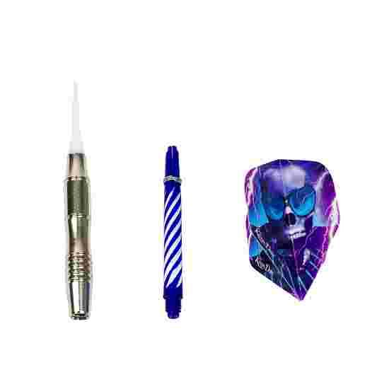 """Kings Dart Softdartpfeil """"Multicolour"""" Silber-Blau"""