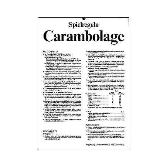 Spielregeln CARAMBOLAGE