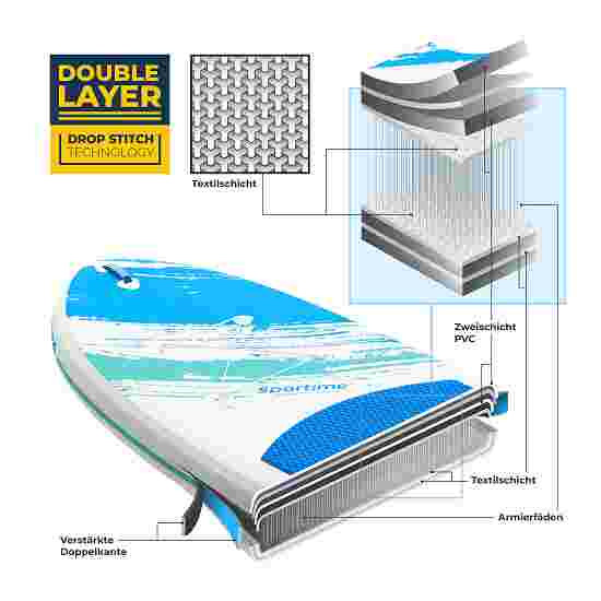 """Sportime® Aufblasbares SUP Lux Set """"Seegleiter Pro"""" in 2 Größen 10'8 Allround Board"""