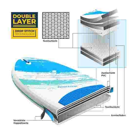"""Sportime® Aufblasbares SUP Set """"Seegleiter Pro"""" in 2 Größen 10'8 Allround Board"""