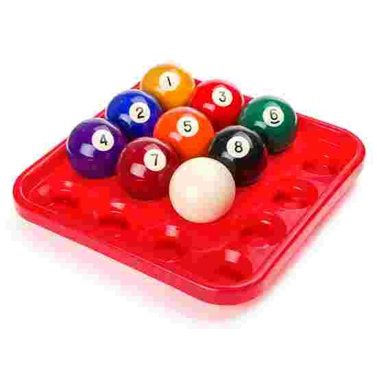 Sportime® Ball-Tablett für Pool-Billardkugeln Rot