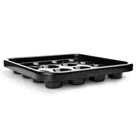 Sportime® Ball-Tablett für Pool-Billardkugeln Schwarz