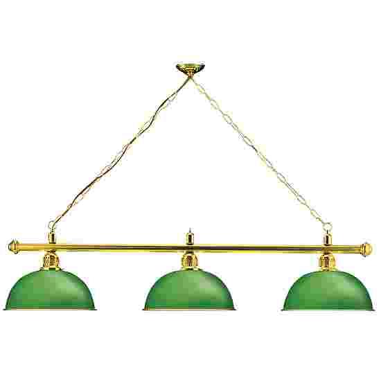 Sportime® Billardlampe London 1 Grün, Messing & Rund