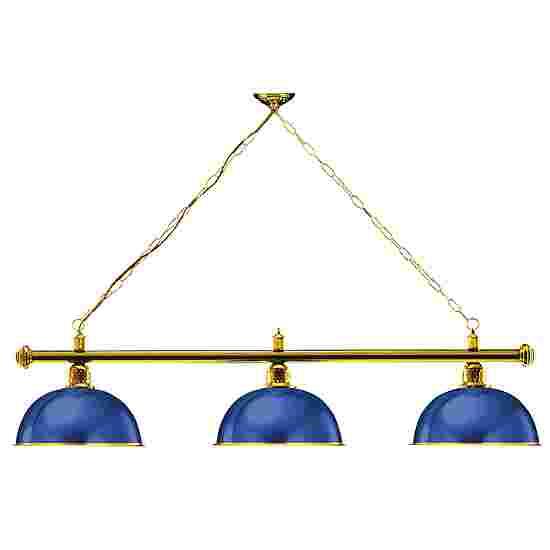 Sportime® Billardlampe London 1 Blau, Messing & Rund
