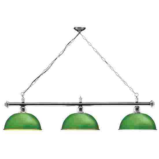 Sportime® Billardlampe London 1 Grün, Chrom & Rund