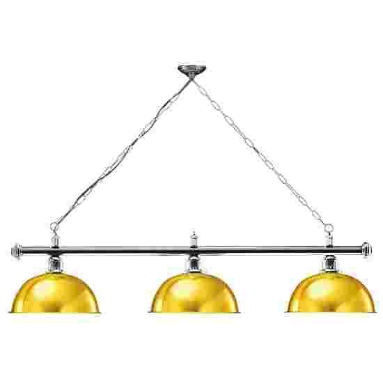 Sportime® Billardlampe London 1 Gold, Chrom & Rund