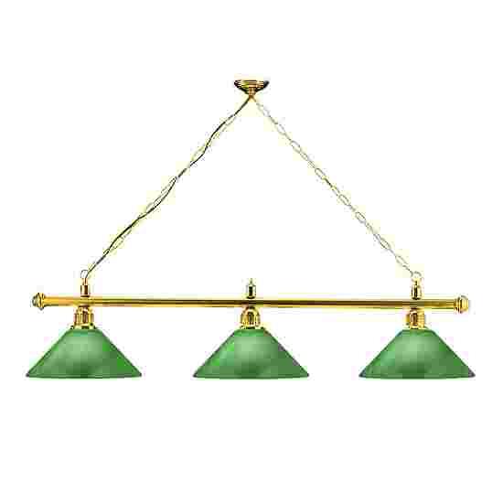 Sportime® Billardlampe London 2 Messing & Trichter, Grün