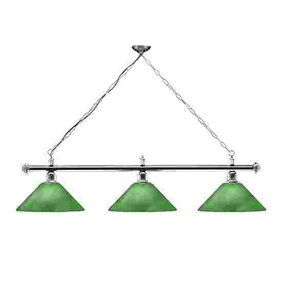Sportime® Billardlampe London 2 Chrom & Trichter, Grün
