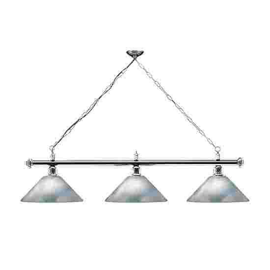 Sportime® Billardlampe London 2 Chrom & Trichter, Silber
