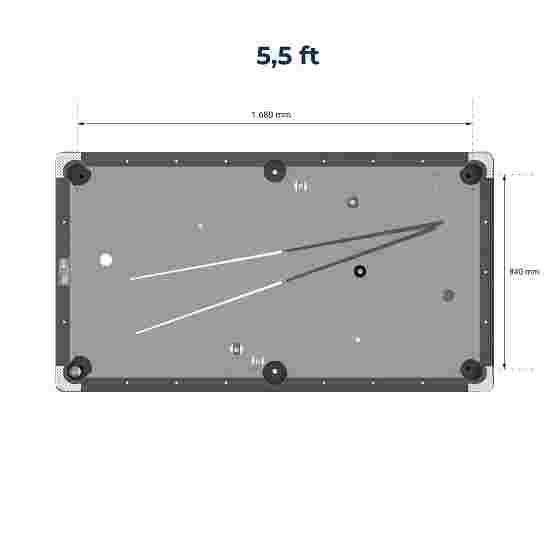 Sportime® Billardtisch Galant 5.5 ft = 199x113 cm, Blau
