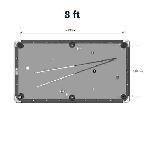 Sportime® Billardtisch Galant 8 ft = 246x134 cm, Blau