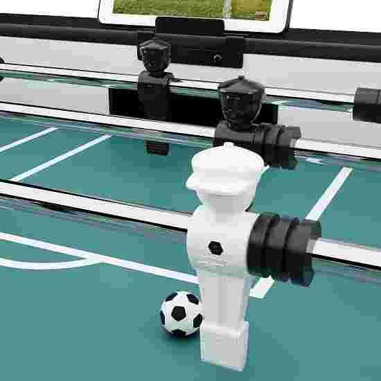 """Sportime® Bluetooth Tischkicker """"Connect & Play"""" Stadion-Edition Schwarz vs. Weiß"""