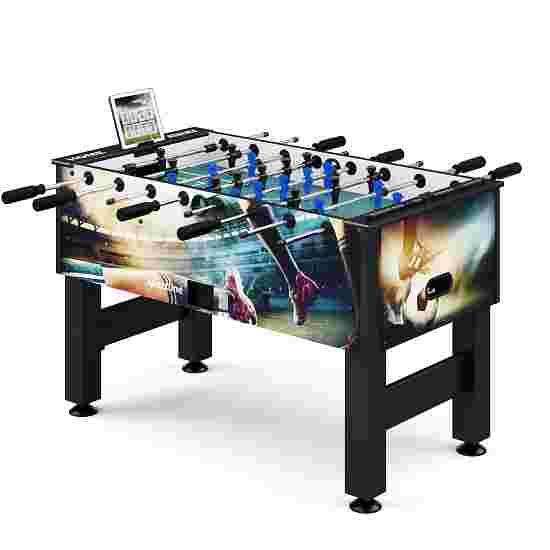 """Sportime® Bluetooth Tischkicker """"Connect & Play"""" Stadion-Edition Schwarz vs. Blau"""