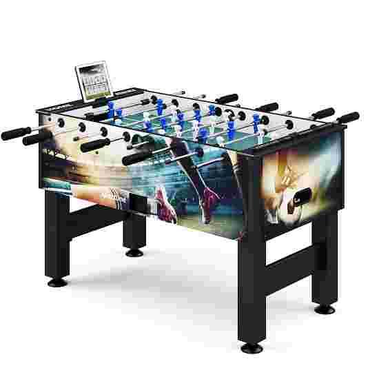 """Sportime® Bluetooth Tischkicker """"Connect & Play"""" Stadion-Edition Blau vs. Weiß"""