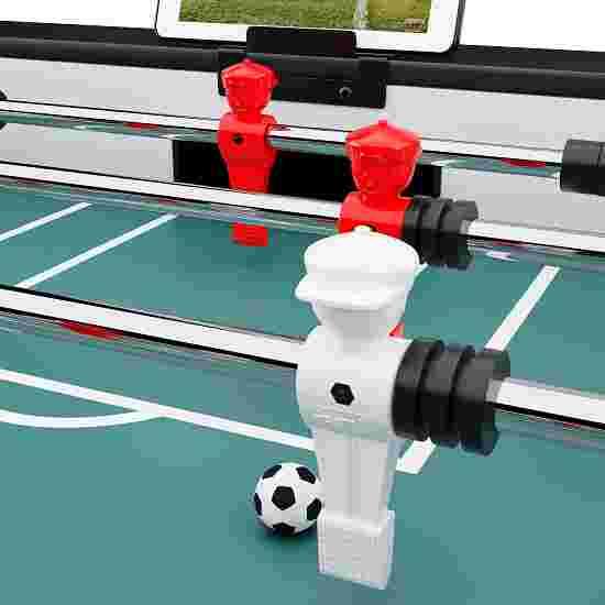 """Sportime® Bluetooth-Tischkicker """"Connect & Play"""" Vereins-Edition Rot-Weiß"""