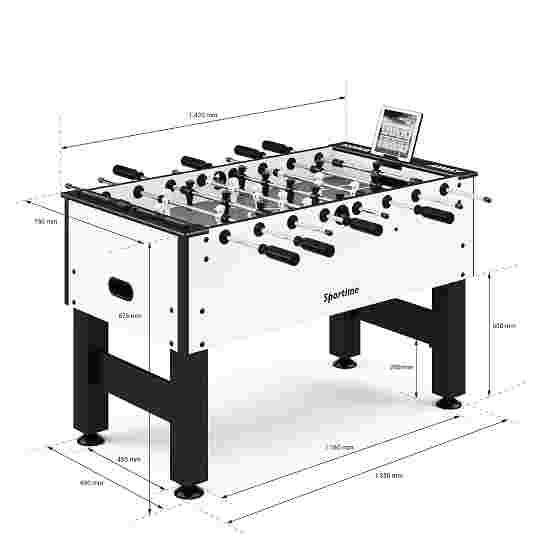 """Sportime® Bluetooth Tischkicker """"Connect & Play"""" Schwarz vs. Weiß"""
