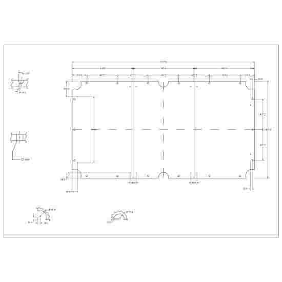 Stradivari Billardtisch Schieferplatten 3-teilig 9 ft