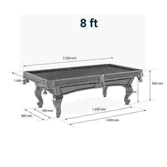 "Stradivari Billardtisch ""Windsor Classic in Mahagoni"" 8 ft (Spielfeld 224x112 cm), Anti-Fleck Grün"