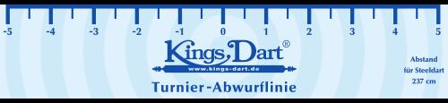 Kings Dart Turnier-Abwurflinie