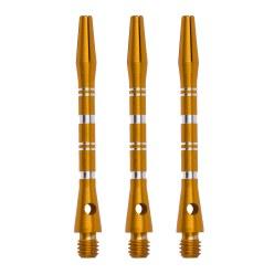 Kings Dart Alu-Schaft mit Zier-Ringen Short = 35 mm, Schwarz