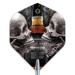 """Kings Dart Dart Flight """"Skull'n'Whisky"""""""