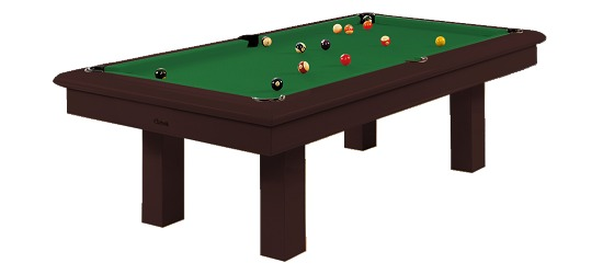 Chevillotte Billardtisch 'Concorde', Chocolate 7ft, Billard-Grün
