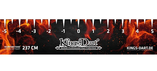 "Kings Dart® Turnier-Abwurflinie ""Fire"""