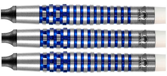 """Bull's NL Softdartpfeil """"Martin Schindler The Wall 80 % PCT Blue"""" 18 g"""