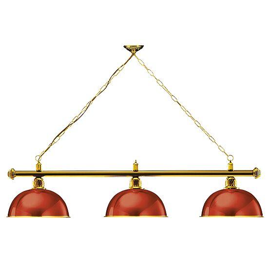 """Automaten Hoffmann Billardlampe """"London"""", Aufhängung Messing Rot"""