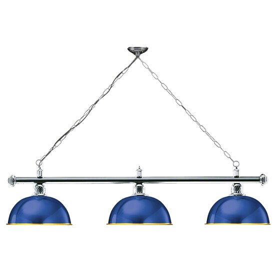 Automaten Hoffmann Billardlampe London Chrom, Blau