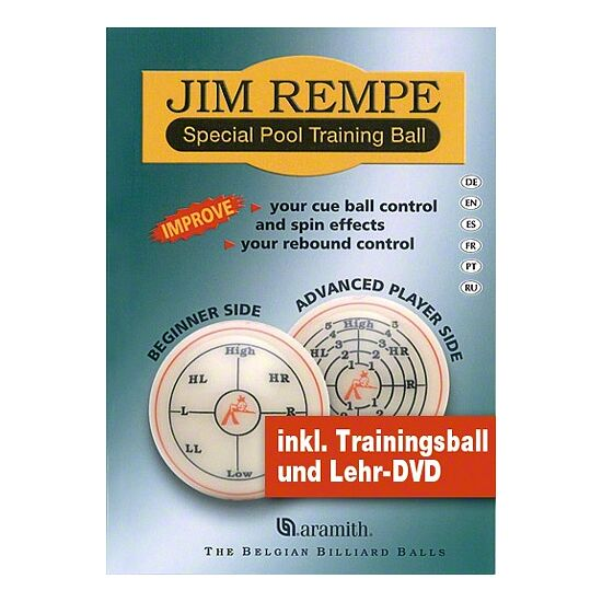 Aramith Jim Rempe Pool-Trainingskugel inkl. DVD und Buch
