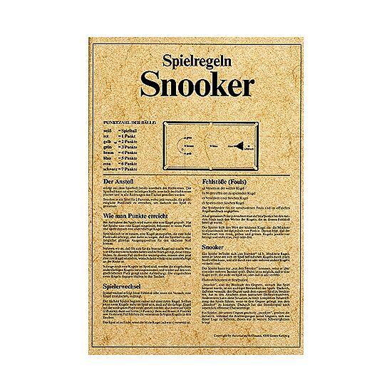 Deluxe-Spielregeln A4-Format SNOOKER