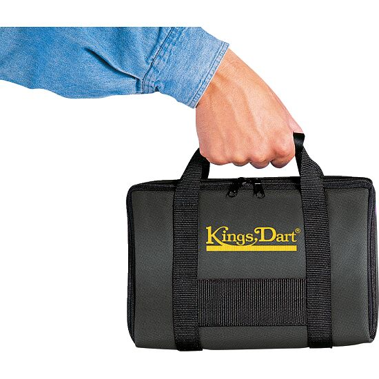"Kings Dart® Turnier-Dartkoffer ""Comfort"" Schwarz"