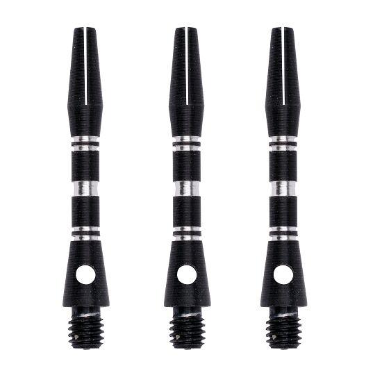 Kings Dart® Alu-Schaft mit Zier-Ringen Short = 35 mm, Schwarz