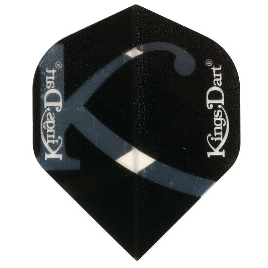 "Kings Dart® Flight ""Uni Transparent"" Schwarz, Full"