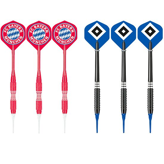 "Kings Dart® Softdart-Set ""Bundesliga"" FC Bayern München/Hamburger SV"