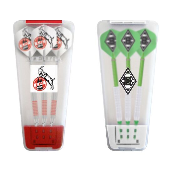 "Kings Dart® Softdart-Set ""Bundesliga"" in Turnierbox 1. FC Köln/Borussia Mönchengladbach"
